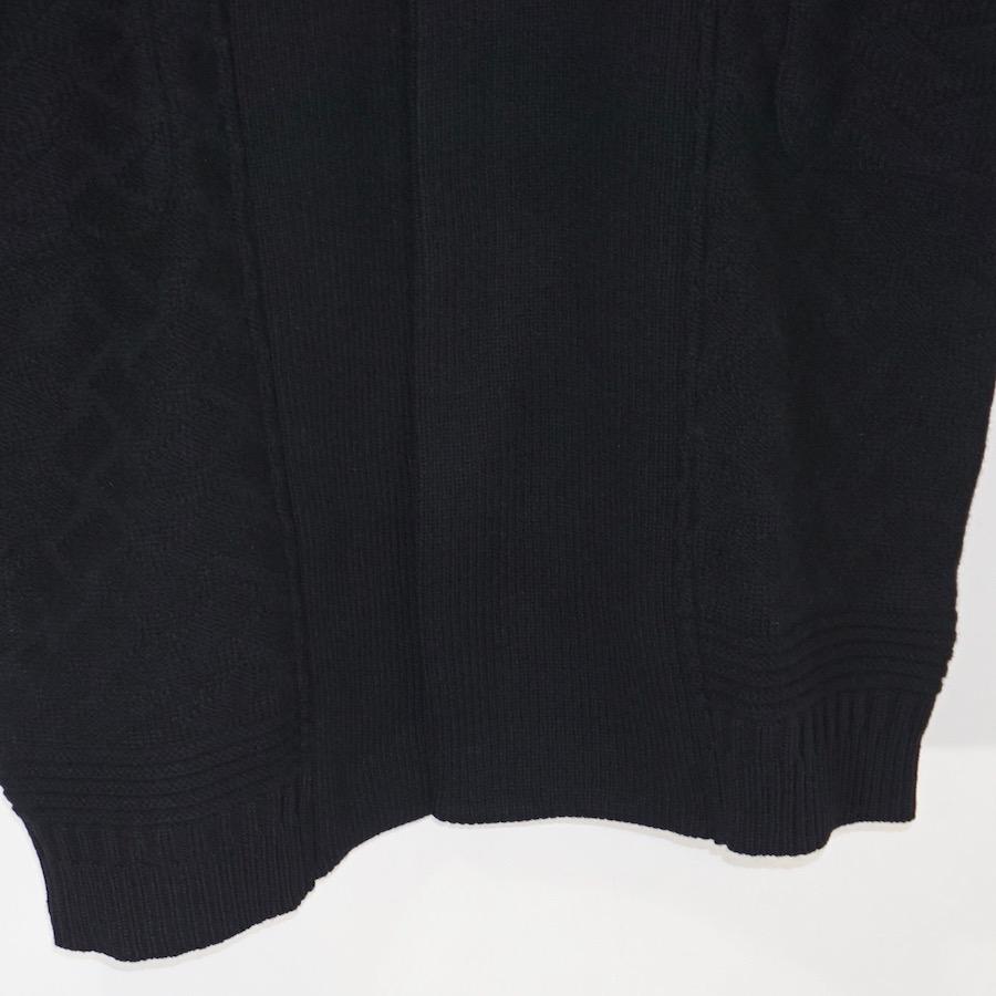 YASHIKI(ヤシキ)   Botayuki Knit Coat (ボタユキニットコート) - Black