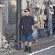 STUDIO NICHOLSON(スタジオニコルソン) | LIGHTWEIGHT COTTON SINGLE PLEAT ELASTICATED SHORTS (ライトウェイトコットンショーツ) - PACIFIC BLUE