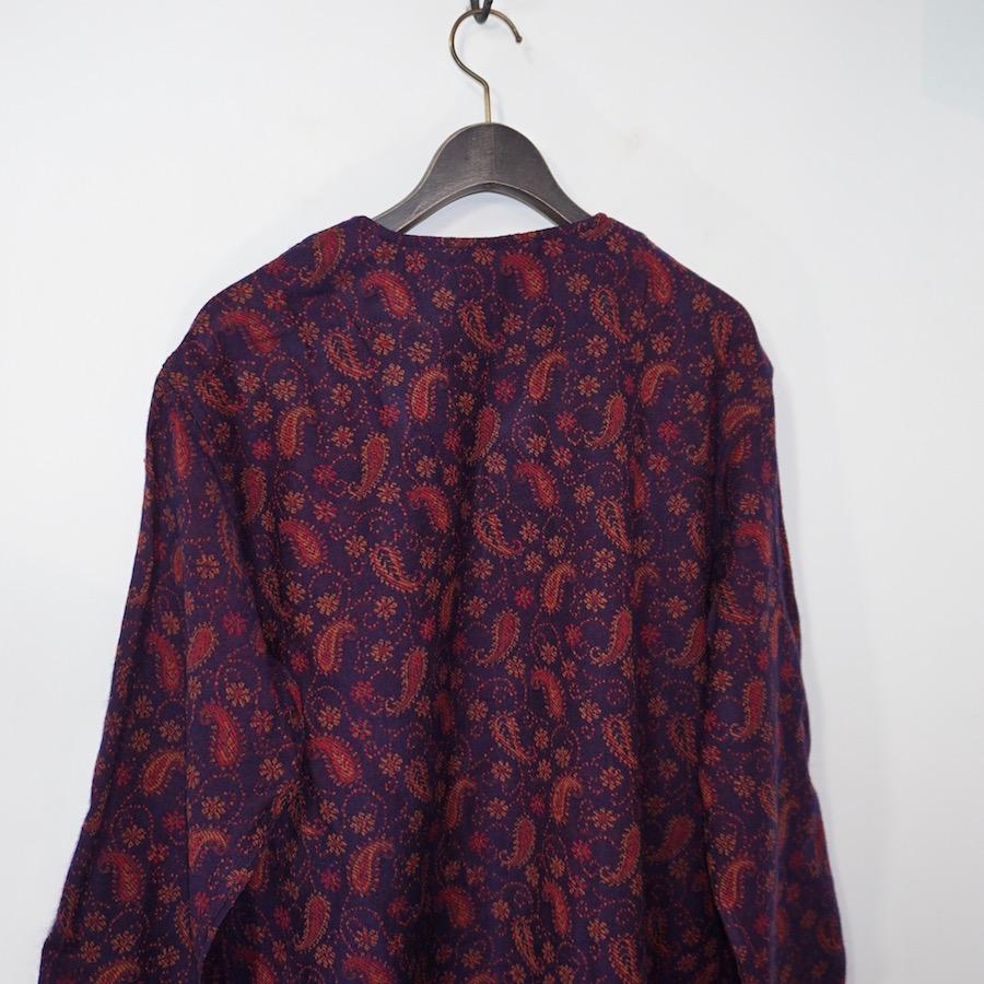 SOUTH2 WEST8 (サウスツーウエストエイト)   V Neck Army Shirt (Vネックアーミーシャツ) - India Jq - Paisley