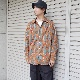 AiE(エーアイイー) | Painter Shirt - Paisley Stripe Print (ペインターシャツ - ペイズリーストライプ) - Teal/Gold