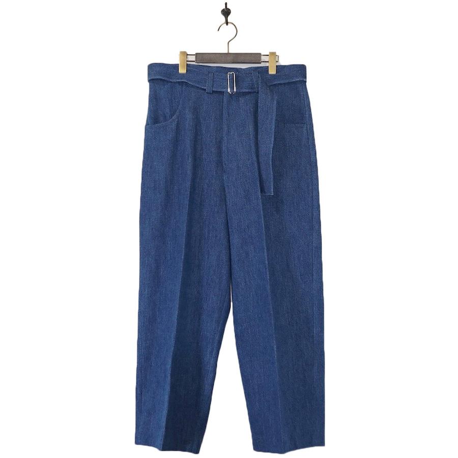 URU(ウル) | BELTED PANTS (ベルテッドパンツ) - INDIGO