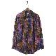 AiE(エーアイイー) | Painter Shirt - Abstract Batik (ペインターシャツ - アブストラクトバティック) - Purple/Green