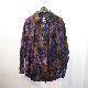 AiE(エーアイイー)   Painter Shirt - Abstract Batik (ペインターシャツ - アブストラクトバティック) - Purple/Green