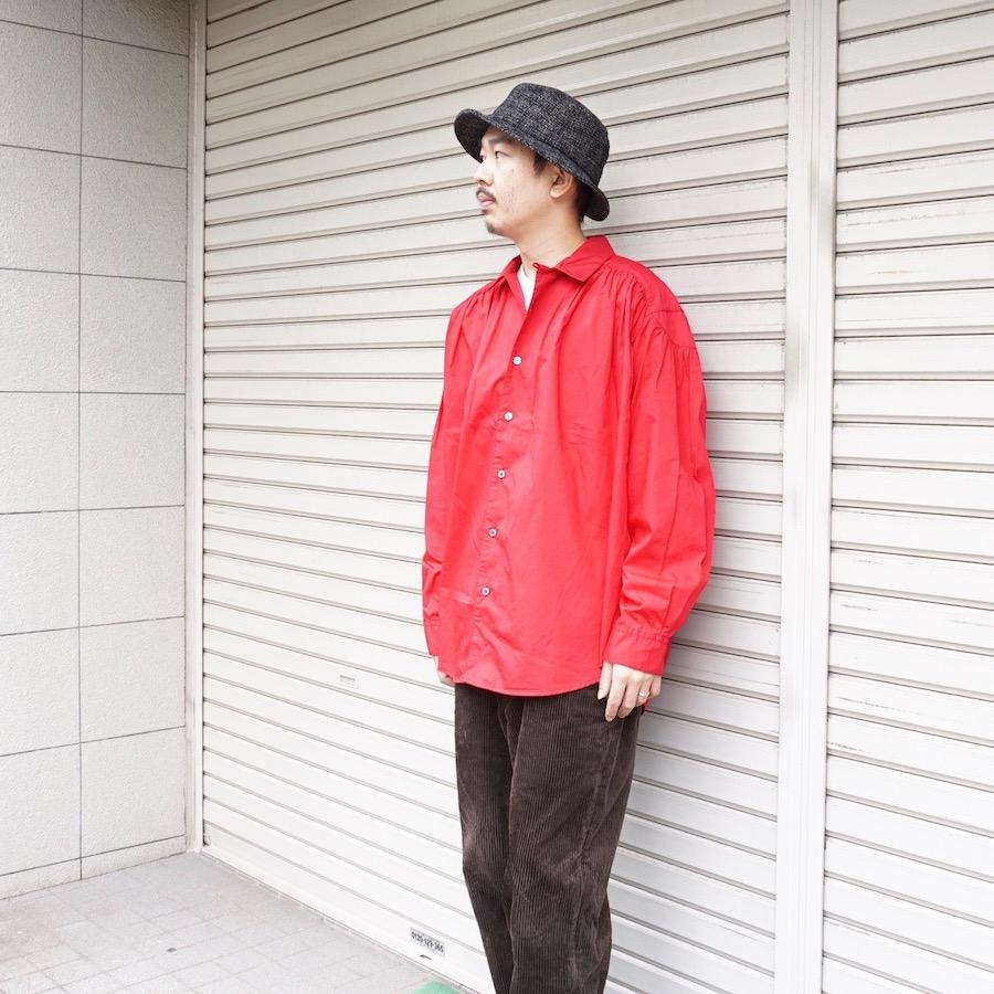 AiE(エーアイイー) | Painter Shirt - Cotton Broadcloth (ペインターシャツ - コットンブロードクロス) - Red