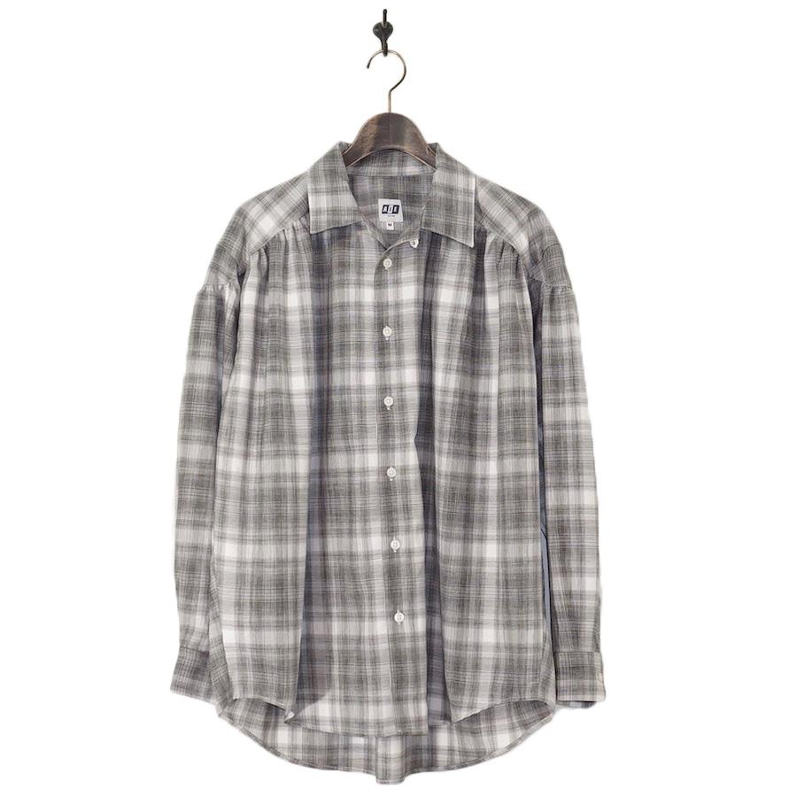 AiE(エーアイイー) | Painter Shirt - Shadow Plaid (ペインターシャツ - シャドウプレイド) - Blk / Wht
