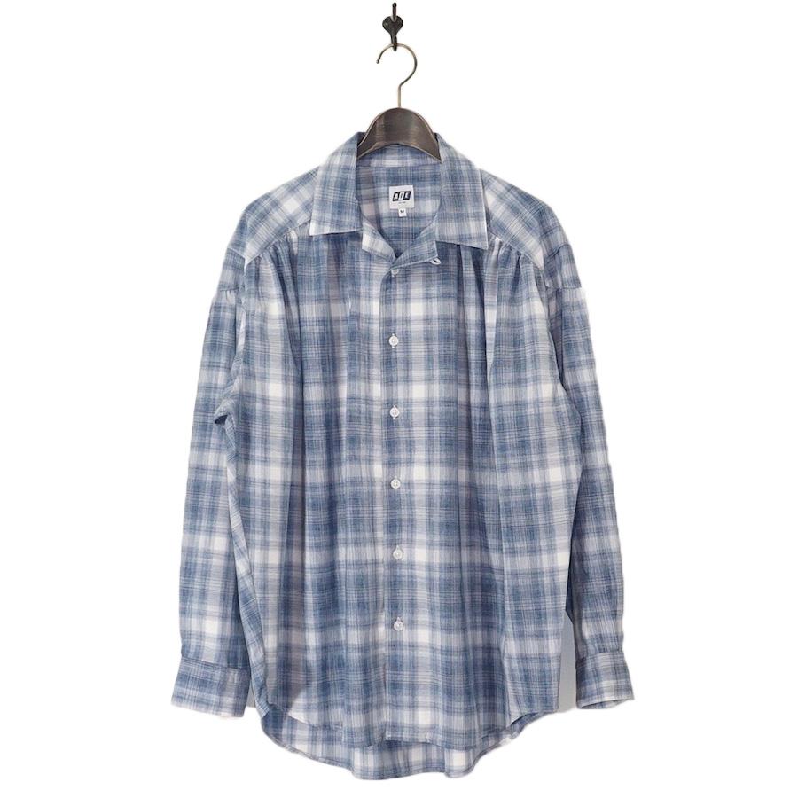 AiE(エーアイイー) | Painter Shirt - Shadow Plaid (ペインターシャツ - シャドウプレイド) - Blue / Wht