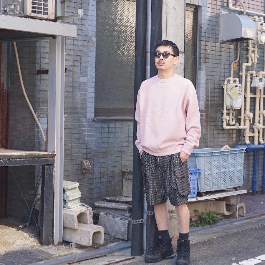 crepuscule(クレプスキュール)   MOKU KANOKO P/O(杢鹿の子プルオーバー) - PINK