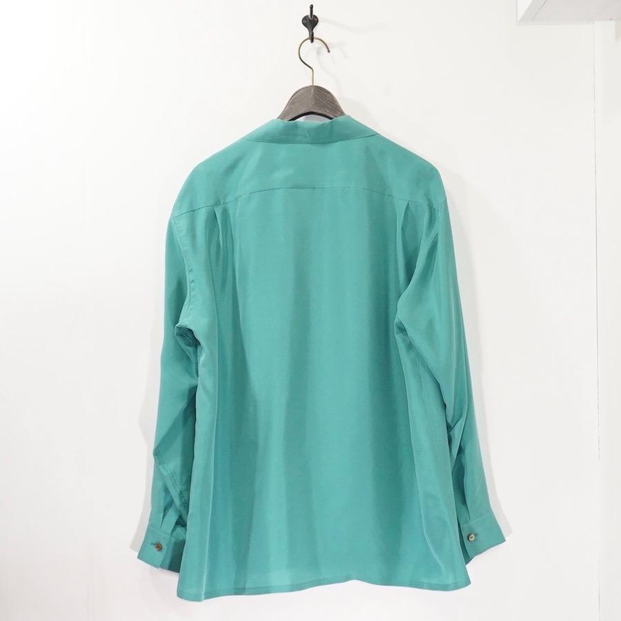 URU(ウル) | 21SSSW02 / OPEN COLLAR L/S SHIRTS (オープンカラーロングスリーブシャツ) - GREEN