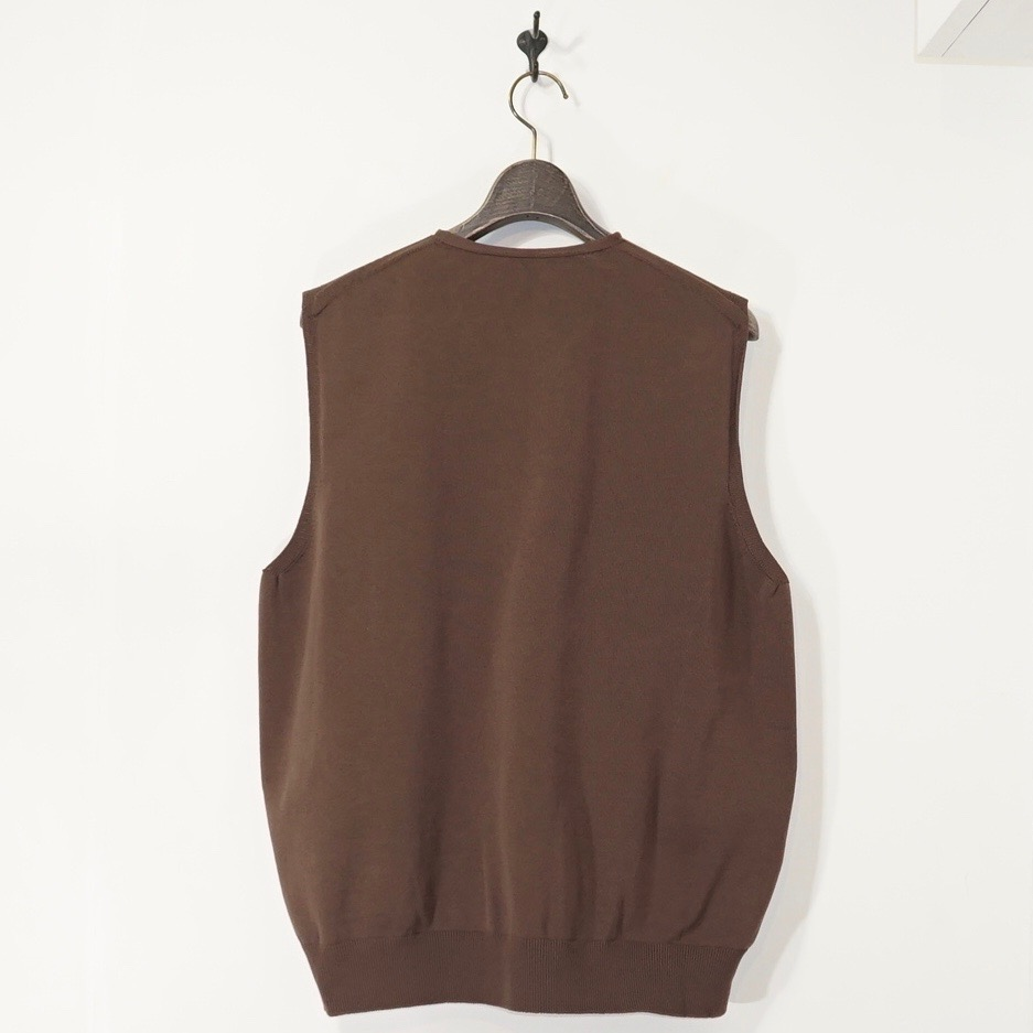 crepuscule(クレプスキュール)   Wholegarment VEST (ホールガーメントベスト) - Brown