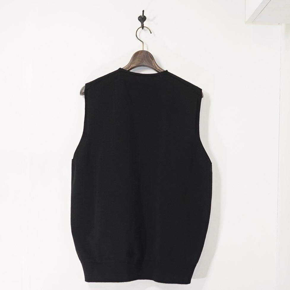 crepuscule(クレプスキュール) | Wholegarment VEST (ホールガーメントベスト) - Black