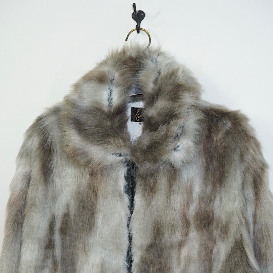 NEEDLES(ニードルズ)  Bomber Jacket - Acrylic Fur (ボンバージャケット - アクリルファー) - GREY