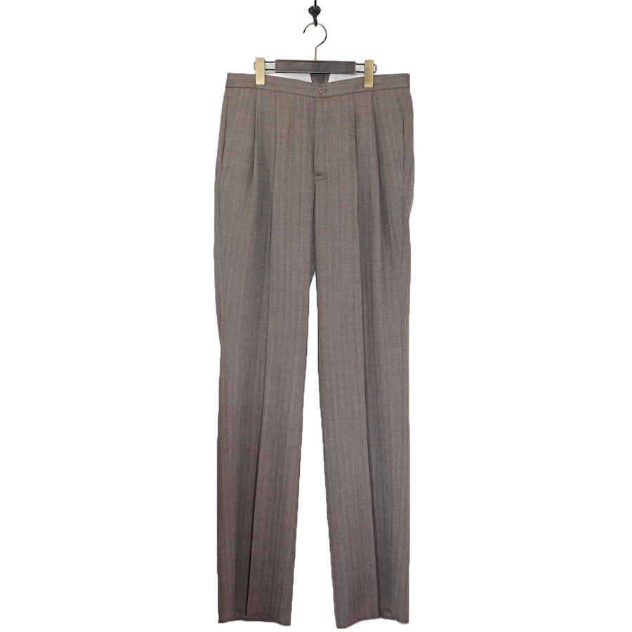 MAATEE&SONS (マーティーアンドサンズ) | High Buck Work Trousers (ハイバックワークトラウザー) - GREY HERRINGBORN