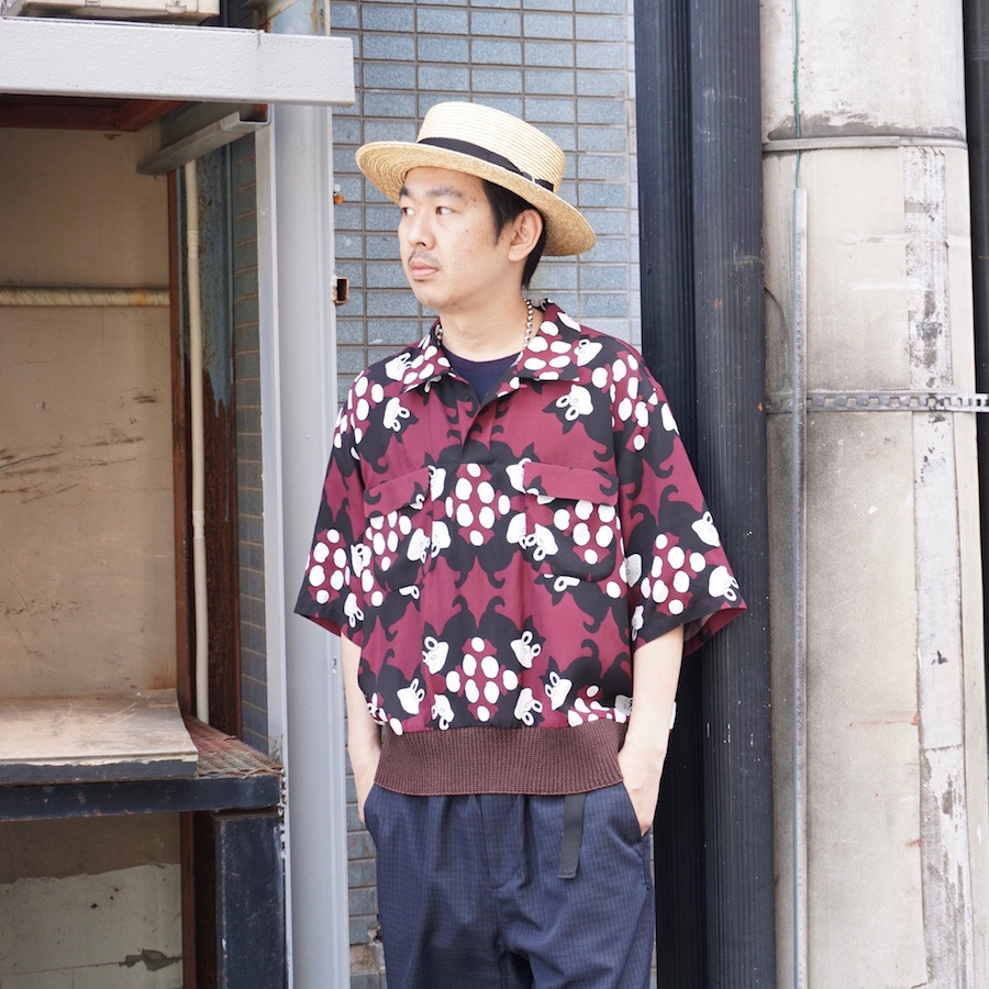 Sasquatchfabrix.(サスクワァッチファブリックス) | NORAKURO RIB SHIRT ( のらくろ リブシャツ) - ART DECO PATTERN