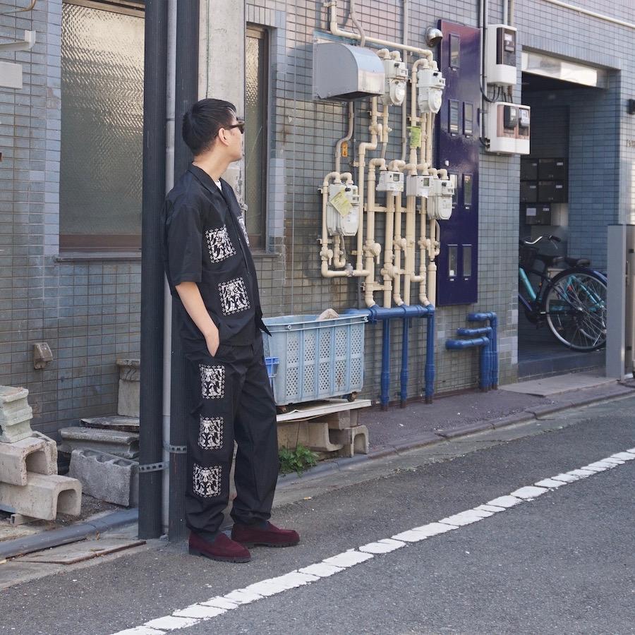 "Sasquatchfabrix.(サスクワァッチファブリックス) | ""KIRIGAMI""EASY PANTS (KIRIGAMI イージーパンツ) - BLACK"