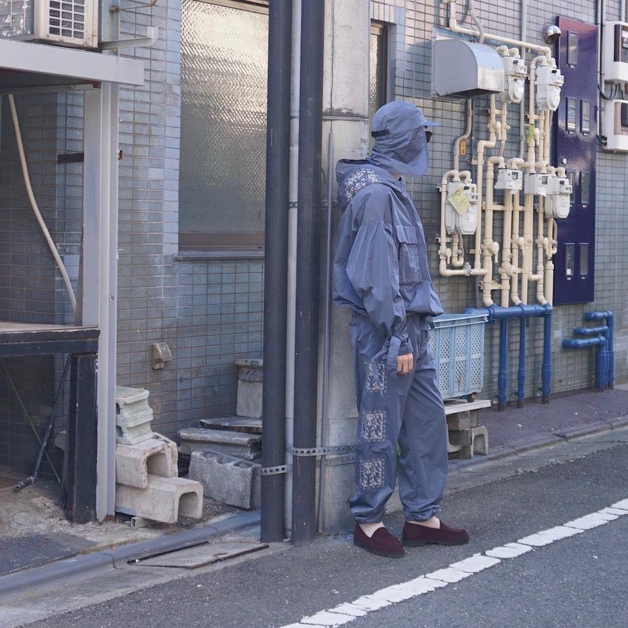 "Sasquatchfabrix.(サスクワァッチファブリックス) | "" KIRIGAMI "" PULLOVER ( "" KIRIGAMI "" プルオーバー) - BLUE GRAY"