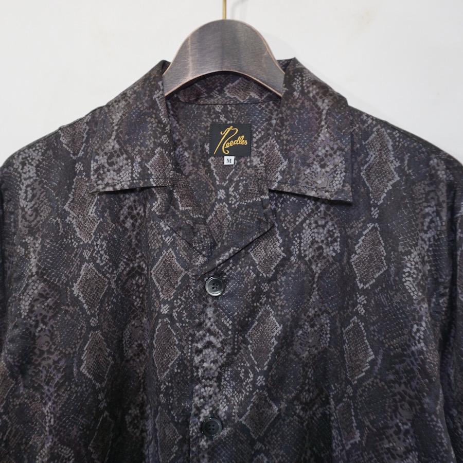 NEEDLES(ニードルズ) | Cabana Shirts - Python PT (カバナシャツ- パイソン) - BLACK