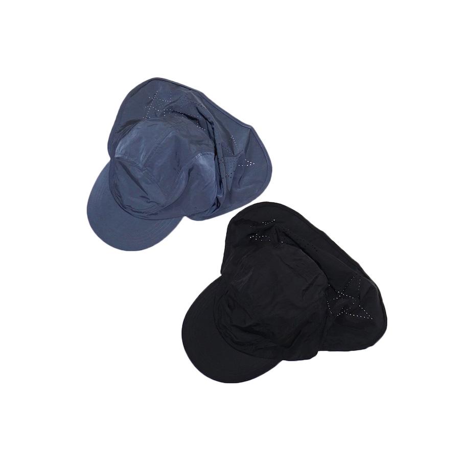 "Sasquatchfabrix.(サスクワァッチファブリックス) | "" SEMAN DOMAN "" UV CUT CAP("" SEMAN DOMAN "" UVカットキャップ) - BLUE GRAY , BLACK"