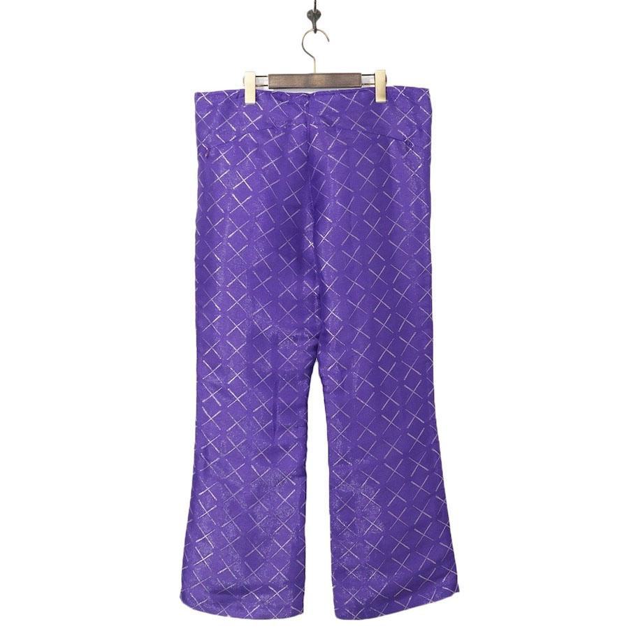 NEEDLES(ニードルズ)   Warm-Up Boot-Cut Pant - Cu/R/Pe Needles(ウォームアップブーツカットパンツ/シーユーアールピーイー ニードルス) - Purple