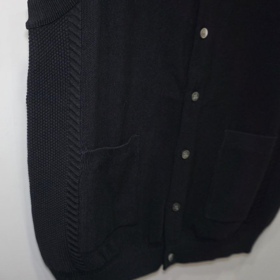 YASHIKI(ヤシキ) | Mizuoto Knit Vest (ミズオトニットベスト) - BLACK