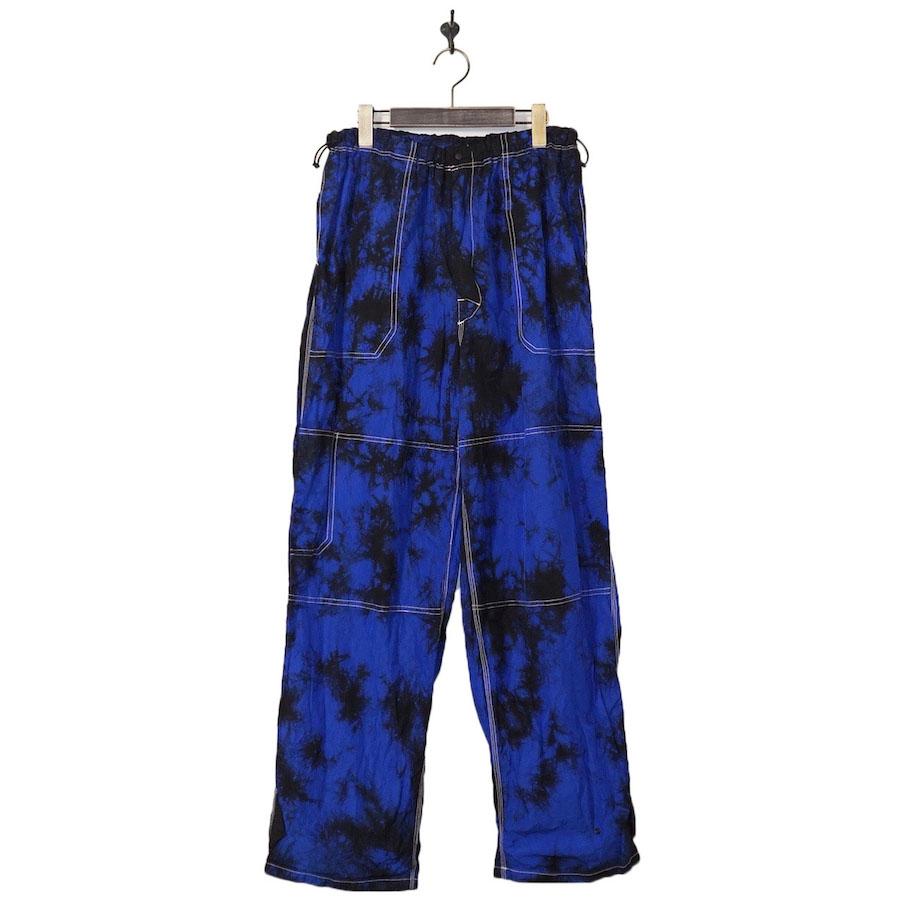 Sasquatchfabrix.(サスクワァッチファブリックス) | NYLON WORK PANTS (ナイロンワークパンツ) - BLACK × BLUE