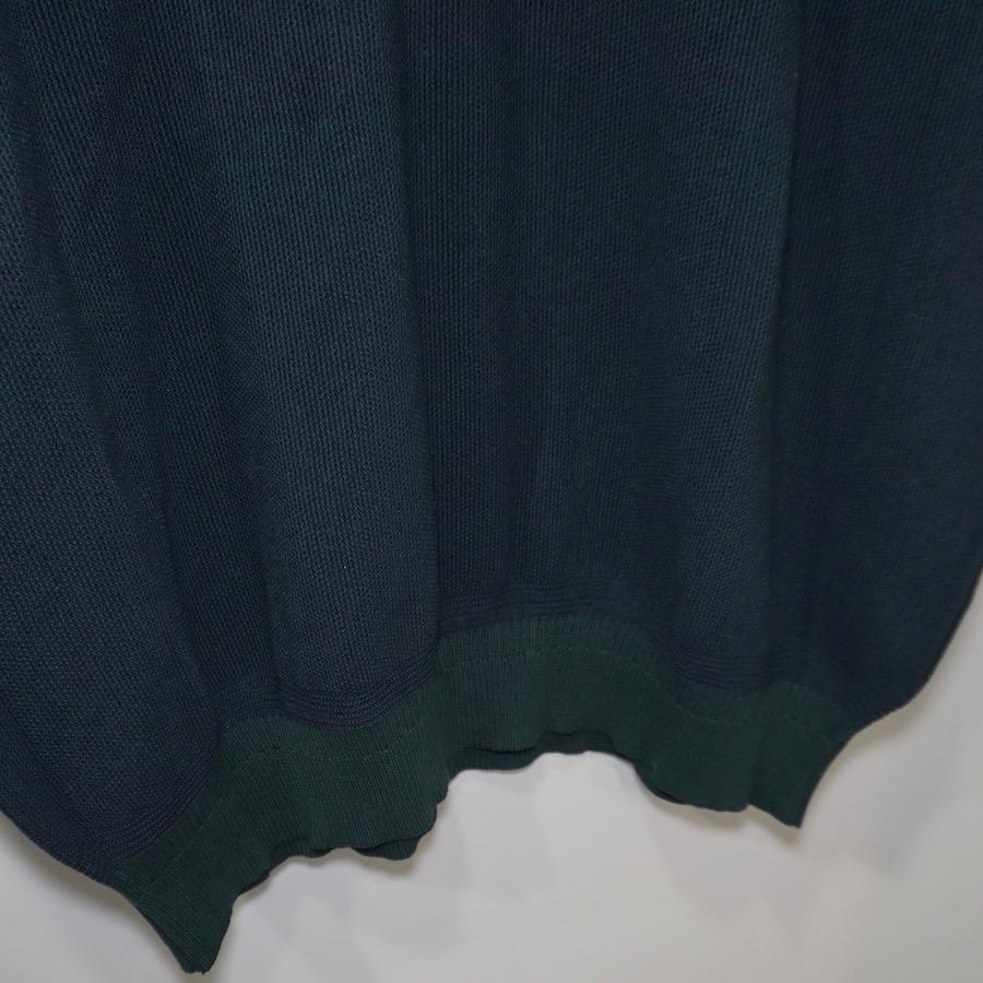 YASHIKI(ヤシキ)   Yuyake Knit Polo (ユウヤケニットポロ) - GREEN