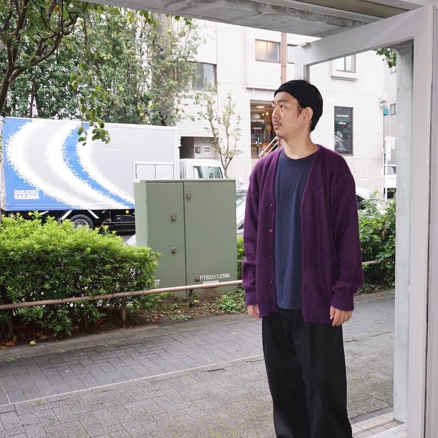 NEEDLES(ニードルズ)   Mohair Cardigan - Solid (モヘアカーディガン - ソリッド) - Purple