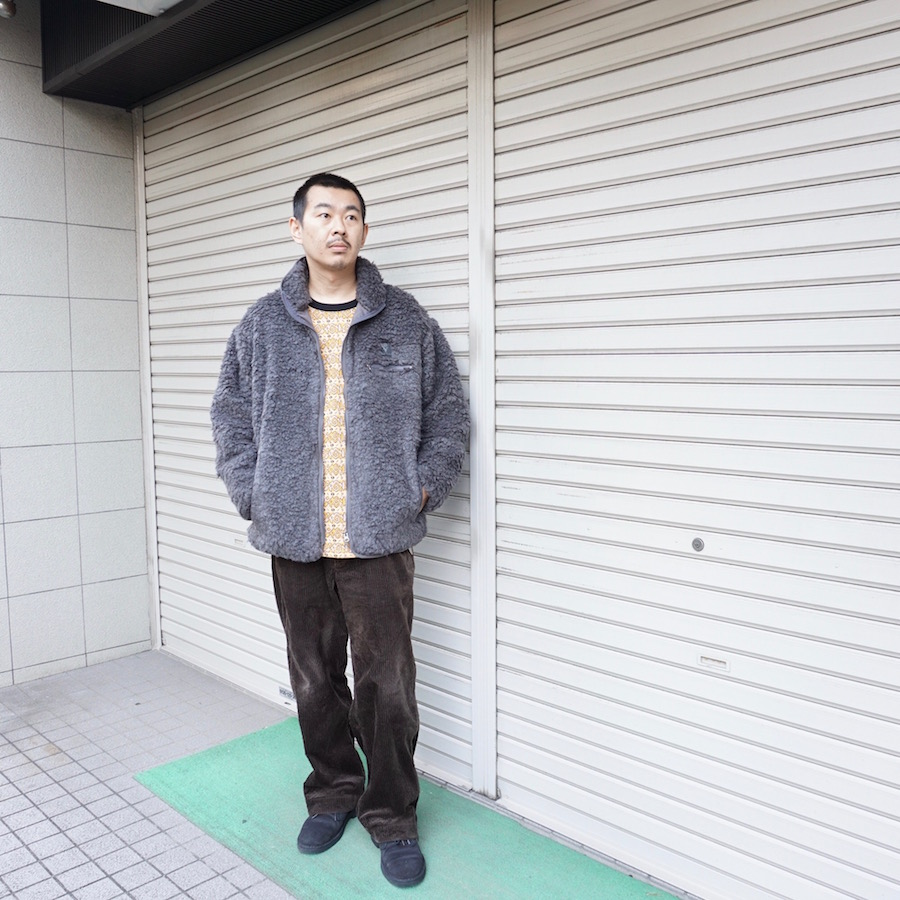 SOUTH2 WEST8 (サウスツーウエストエイト)   Piping Jacket - Faux Boa  (パイピングジャケット) - Charcoal