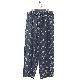 NANUA (ナヌーア) | circle pattern relax pants (サークルパターン リラックスパンツ) - HAND STAMP NAVY BATIK