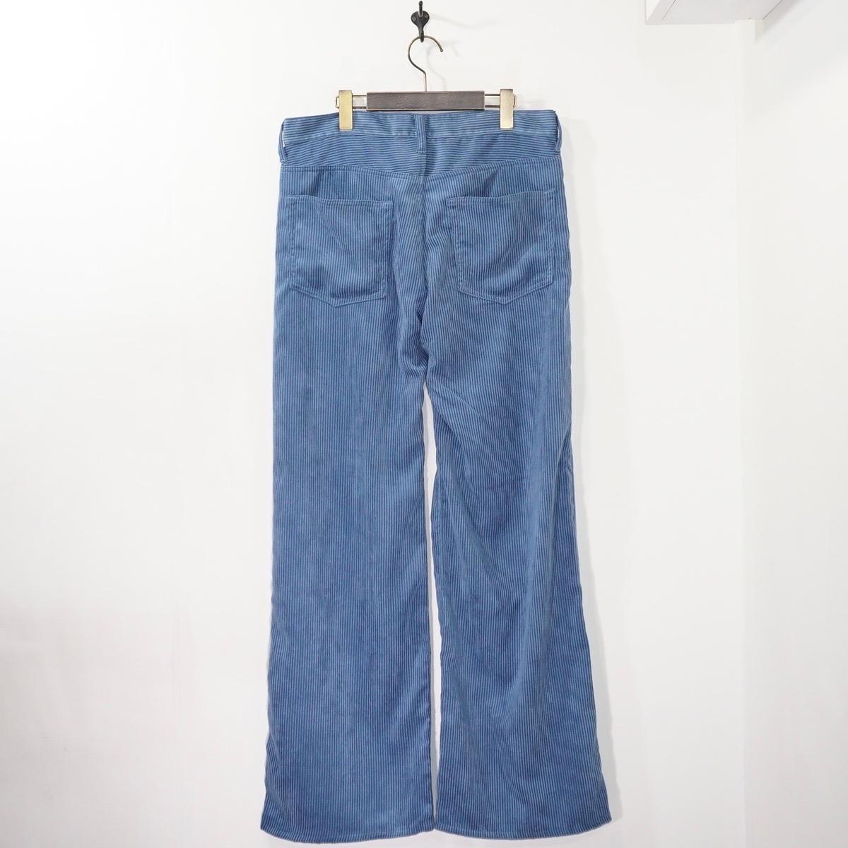 Sasquatchfabrix.(サスクワァッチファブリックス) | 70-21 CORDUROY FLARE 5 POCKET PANTS (70-21 コーデュロイ フレア5ポケットパンツ) - BLUE