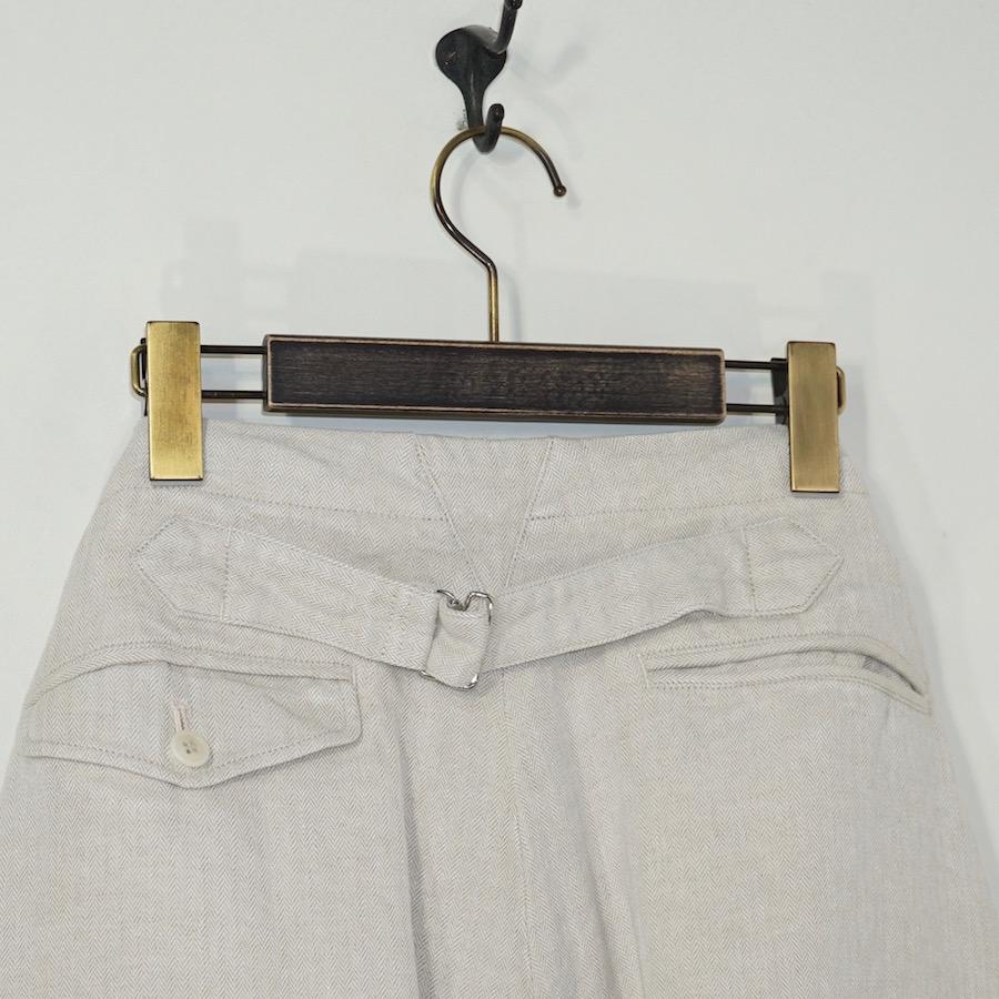 MAATEE&SONS (マーティーアンドサンズ) | High Buck Work Trousers (ハイバックワークトラウザー) - ECRU