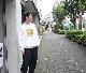 Sasquatchfabrix.(サスクワァッチファブリックス) | ORIENTAL TIGER CREWNECK SWEATSHIRT (オリエンタルタイガー クルーネックスウェットシャツ) - WHITE