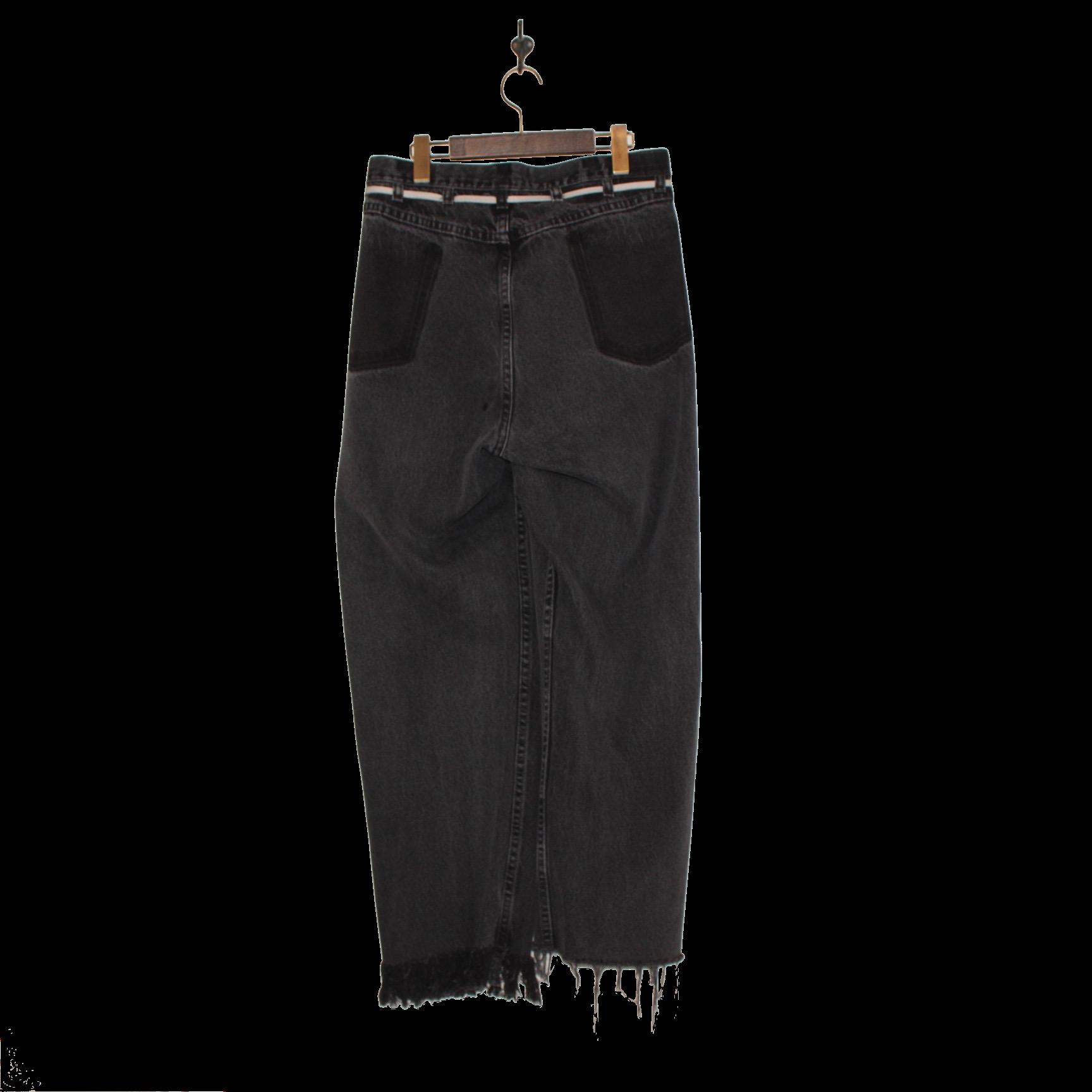 MAISON EUREKA(メゾンエウレカ)/VINTAGE REWORK BIGGY PANTS(ヴィンテージ リワーク ビギー パンツ)-BLACK