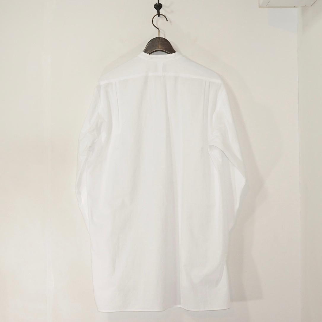 URU(ウル) | 20FCWE02 / BAND COLLAR L/S SHIRTS (バンドカラーロングスリーブシャツ) - WHITE