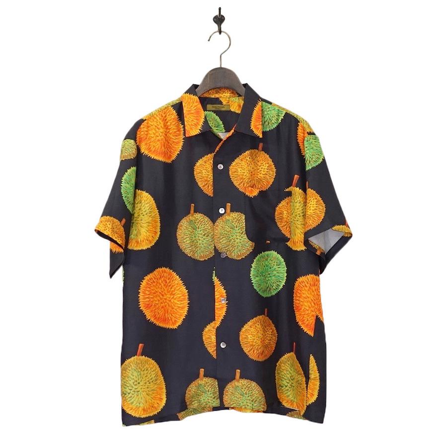 Wang Chomphu (ワンチョムプー)  OPEN COLLAR H/S SHIRT (オープンカラーハーフスリーブシャツ) - DURIAN PATTERN