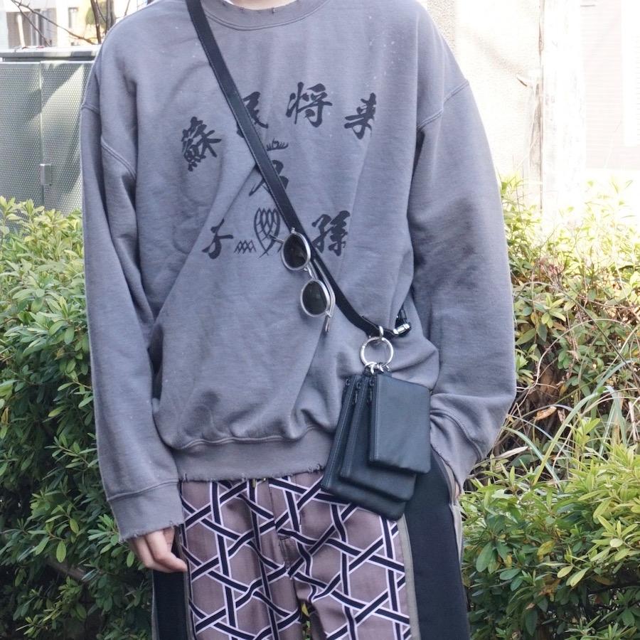 yorozu (ヨロズ) | tsunagi leather belt  (ツナギレザーベルト) - BLACK
