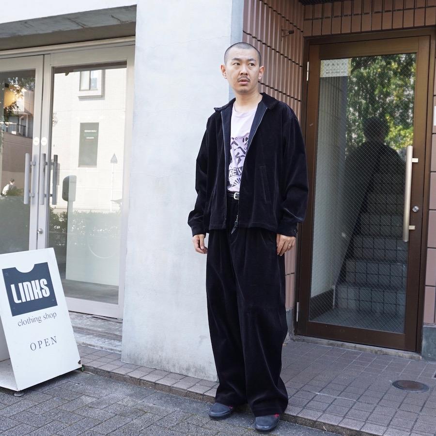 NICENESS(ナイスネス) | COOKE(高密コーデュロイシームレストラウザー)- BLACK