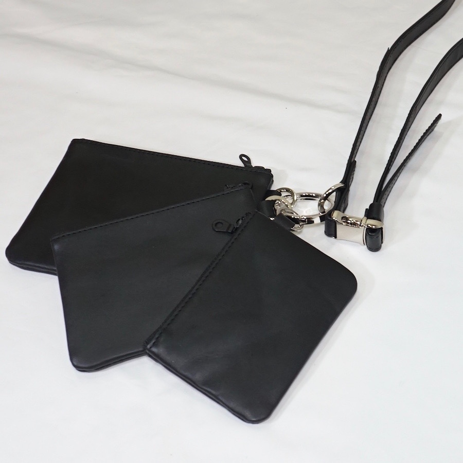 yorozu (ヨロズ) | tsunagi fc  pouch M (ツナギ機能ポーチ M ) - BLACK