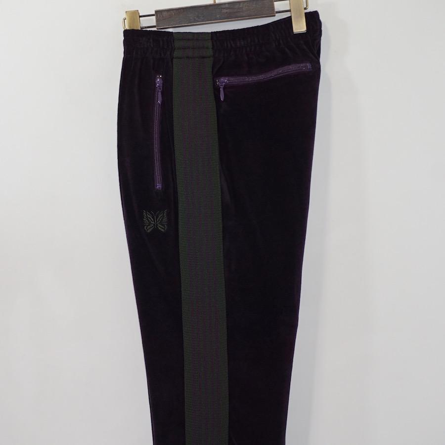 NEEDLES(ニードルズ) | Narrow Track Pant - C/Pe Velour(ナロートラックパンツ-コットン/ポリエステルベロア) - Eggplant