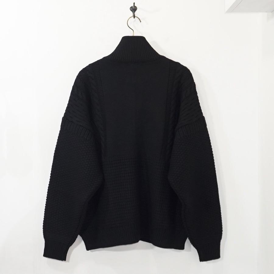 YASHIKI(ヤシキ)   Akane Knit Blouson (アカネニットブルゾン) - BLACK