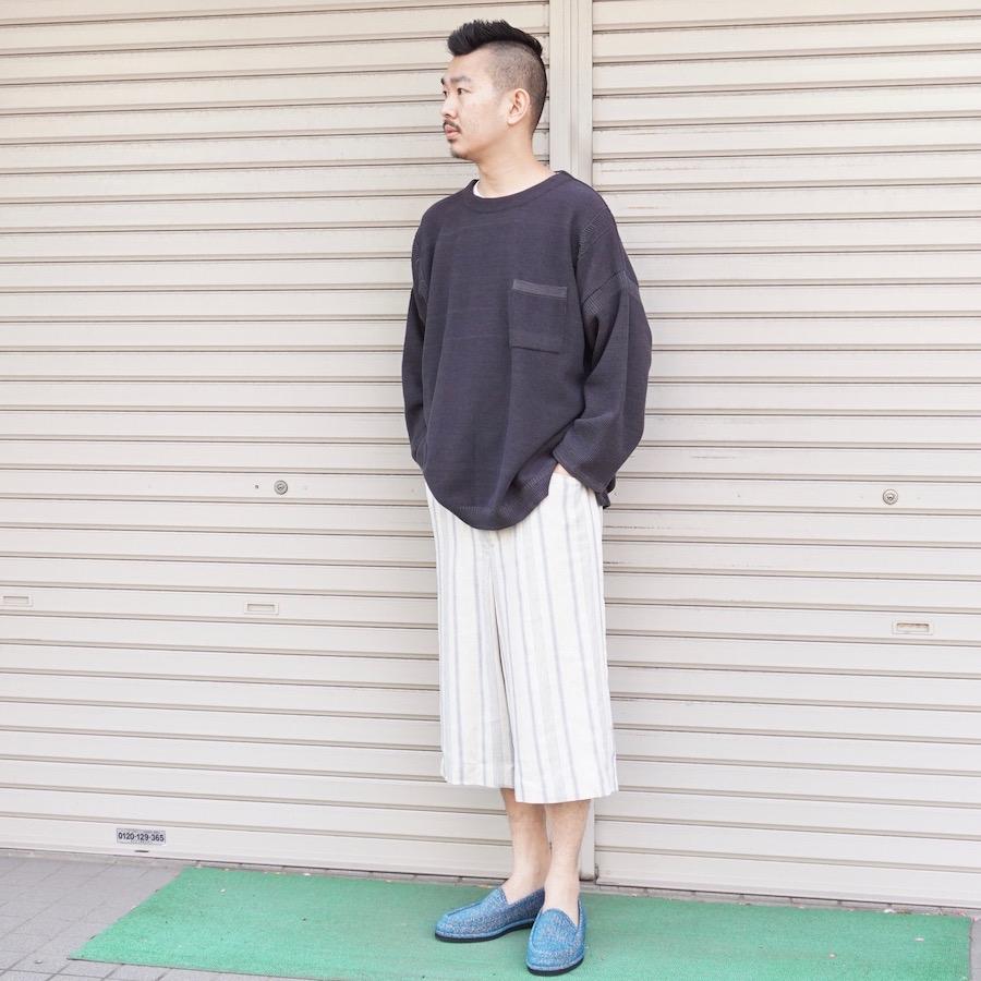 YASHIKI(ヤシキ)   Awayuki Knit (アワユキニット) - GRAY