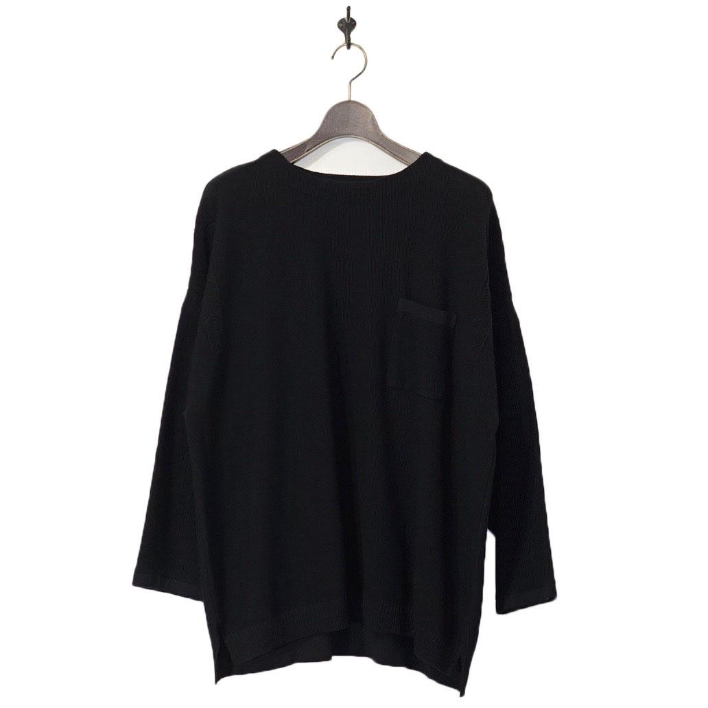YASHIKI(ヤシキ)   Awayuki Knit (アワユキニット) - BLACK