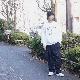 "Sasquatchfabrix.(サスクワァッチファブリックス) | ""蘇民将来乃子孫"" SWEATSHIRT (ソミンショウライ スウェットシャツ) - WHITE"