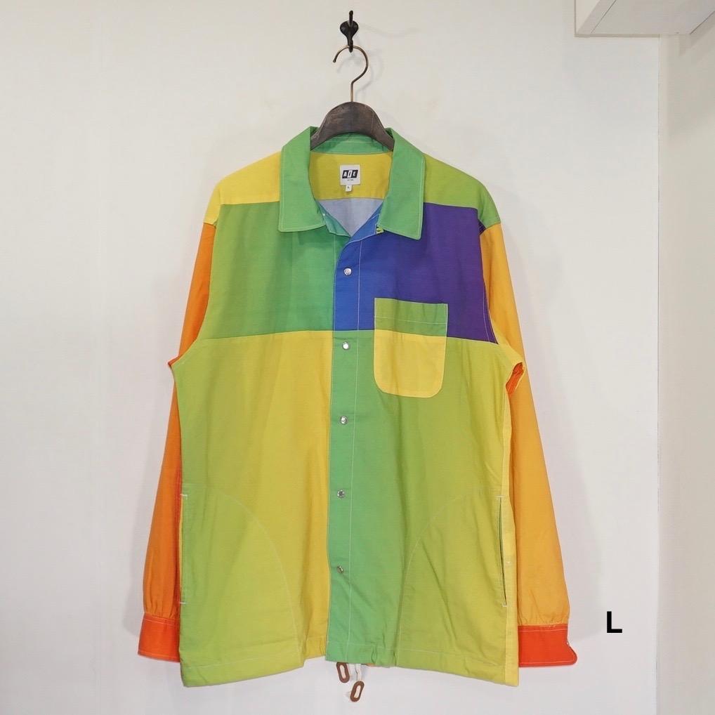 AiE(エーアイイー) | COACH SHIRT - BIG RAINBOW PRINT (コーチシャツ - ビックレインボープリント) - MULTI COLOR