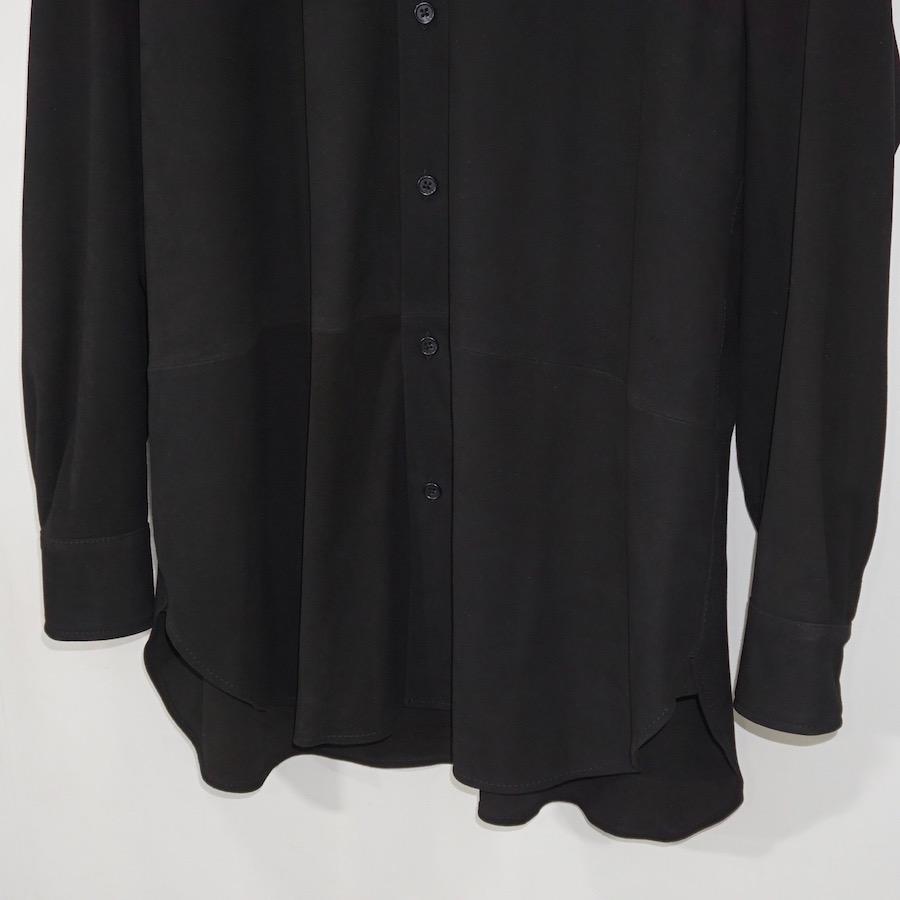 CCU (シーシーユー) | REGULAR COLLAR SHIRT (レギュラーカラーシャツ) - BLACK