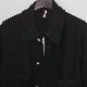 CCU (シーシーユー) | COVERALL SHIRT (カバーオールシャツ) - BLACK