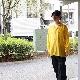 MAATEE&SONS(マーティーアンドサンズ) | LOOSE SH - 強撚SUPER FINE WOOL (ルーズシャツ) - YELLOW