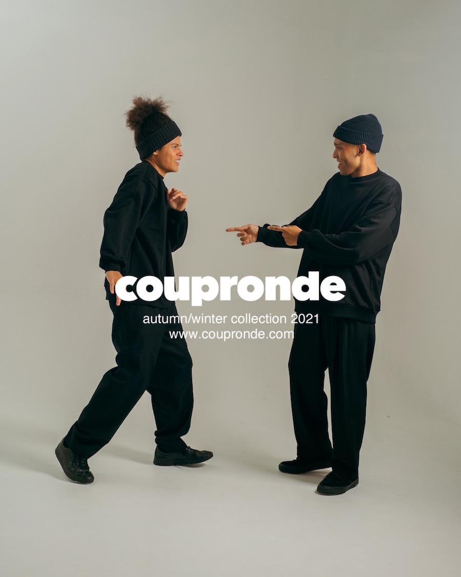 coupronde (クープロンド)   SWEAT SHIRTS (スウェットシャツ) - BLACK
