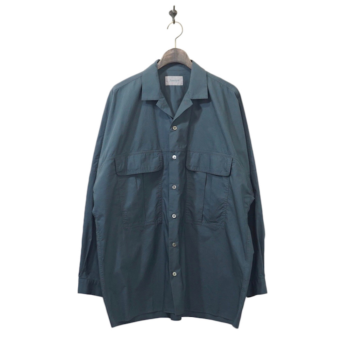 Neweye(ニュウアイ) | Work shirts(ワークシャツ) - Blue gray