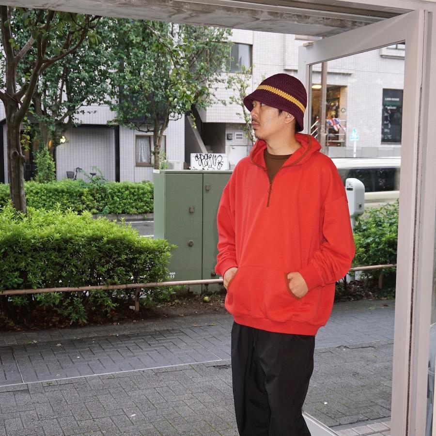 Sasquatchfabrix.(サスクワァッチファブリックス)   TALISMAN HALF ZIP SWEAT HOODIE (タリズマンハーフジップスウェットフーディー) - RED