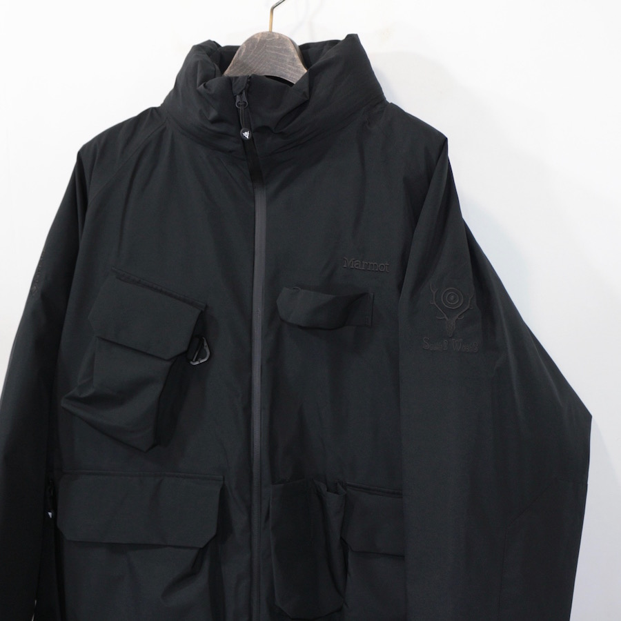 SOUTH2 WEST8 (サウスツーウエストエイト) | South2 West8 x Marmot #W.E.T. Down Jacket - Solid / GORE-TEX (サウスツーウエストエイト×マーモット ダウンジャケット) - Black